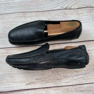 Cole Haan mens Black Driving Moccasin Loafers 10.5